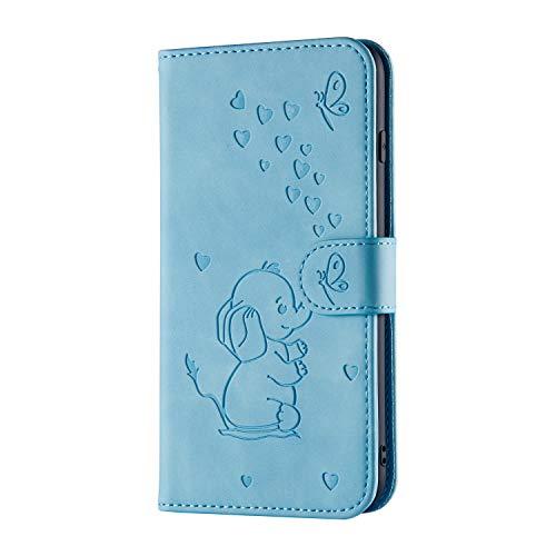 Tosim Galaxy S7 Edge Hülle Klappbar Leder, Brieftasche Handyhülle Klapphülle mit Kartenhalter Stossfest Lederhülle für Samsung Galaxy S7Edge/G935F - TORXZ030246 Blau