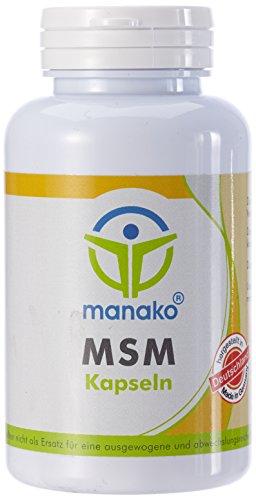 manako MSM (Methylsulfonylmethan) Kapseln human, 120 Stück, Dose 84 g (1 x 120 Kapseln)