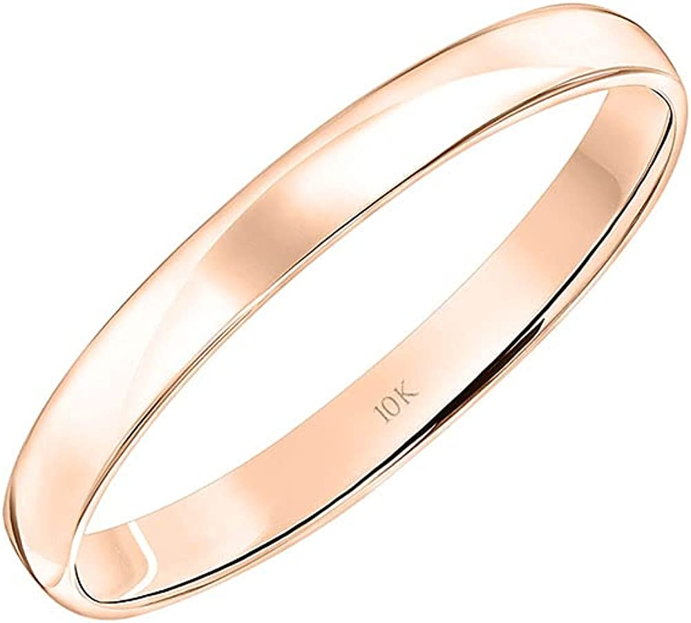 Men's or Women's 10K 14K Rose Gold Class Yellow 3MM Max 71% OFF White Discount is also underway