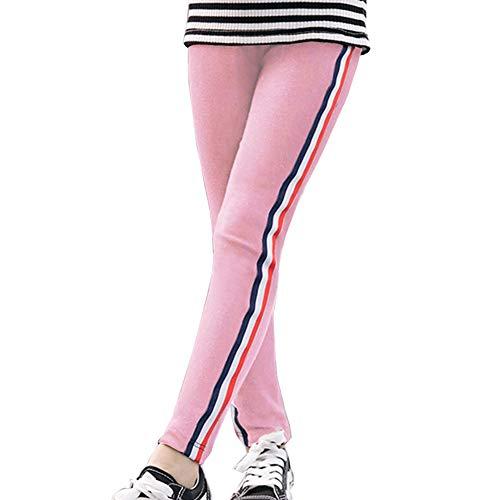 Gyratedream Mädchen Leggings Hose Gestreifte Jogginghose Sweatpants für 2-9 Jahre Kinder
