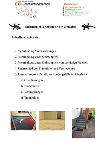 otto-online-handel Otto173 - Instrucciones para alfombra de piedra, grava de mármol, resina epoxi y aglutinante de poliuretano 1K, multicolor