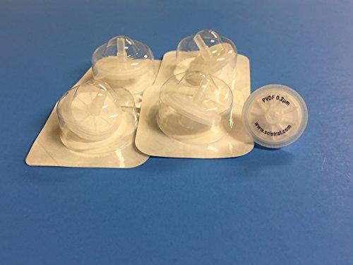 Sterile Syringe Filters, PVDF, 25mm diameter, 0.2um, Individually Packaged, 1.
