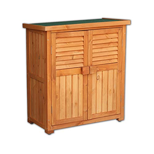 Household Products Outdoor Gardening Tools Vertical Storage shed, Double-Door Garden Wooden Tool Box, Courtyard Lawn Swimming Pool Accessories Storage shed, Used in Gardens, courtyards and Farms