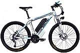 Bicicleta eléctrica de nieve, Bicicleta eléctrica de montaña for adultos con 36V 13Ah de iones de litio E-Bici con faros LED 21 Velocidad 26 '' Neumático Batería de litio Playa Cruiser para adultos