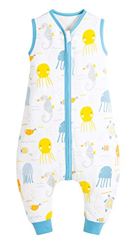FEOYA Toddler and Early Walker Baby Wearable Blanket Sleeveless Sleeping Sack with Legs Toddlers & Babies Cotton Soft Sleepsuit
