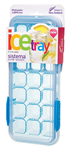 Sistema KLIP IT Accents Collection Ice Cube Tray with Cover, Large, Color Received May Vary