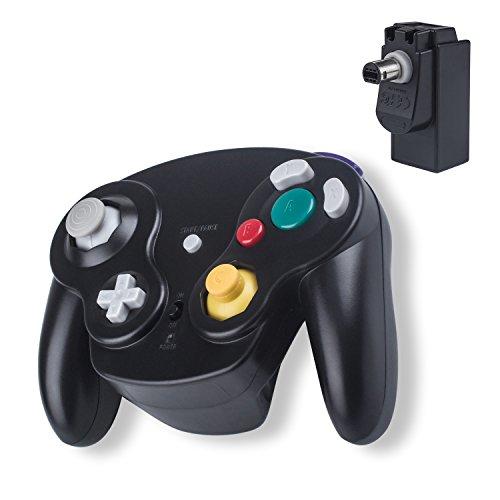 Wireless Gamecube Controller Ersatz 2.4G Bluetooth NGC Gamepad Joystick GC Controller Gamecube Pad Games Spiele mit Empfänger-Adapter für Wii U Gamecube NGC GC