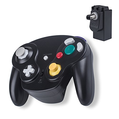 Wireless Game Cube WII Controller Ersatz 2.4G Bluetooth NGC Gamepad Joystick GC Controller Gamecube Pad Games Spiele mit Empfänger-Adapter für Wii U Gamecube NGC GC