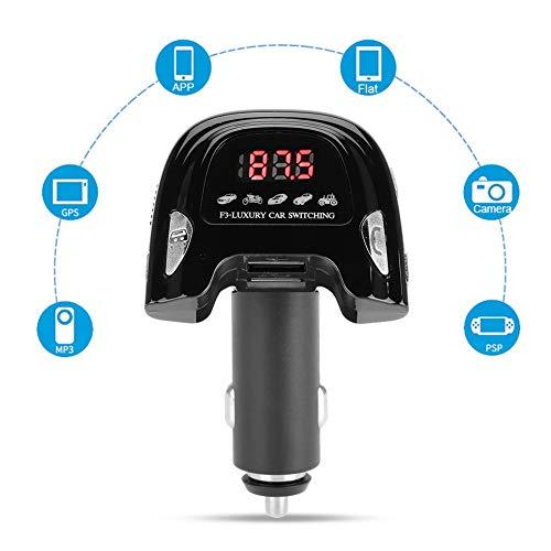 Bluetooth draadloze ontvanger voor in de auto, Bluetooth 5.0 Car Adapter draadloze radio adapter met handsfree functie, geïntegreerde MP3-speler voor spraaknavigatie en twee met apps compatibele USB-poort
