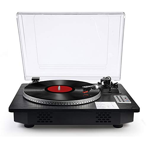 Vinyl Record Player Turntable with Bluetooth Input Output,LP Player with Speakers USB Vinyl to MP3 Encoding