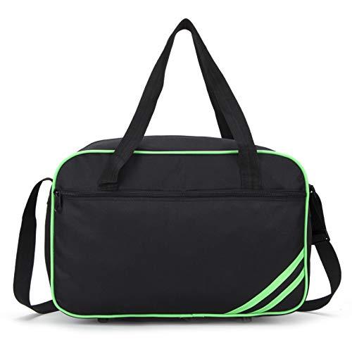 Ryanair Small Second Hand Luggage Travel Cabin Shoulder Flight Bag 40x20x25 Under Seat Travel Holdall (Black Green)