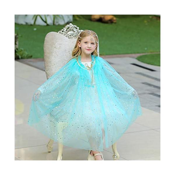 Familycrazy Princess Cape Cloaks for Little Girls Dress Up Accessories