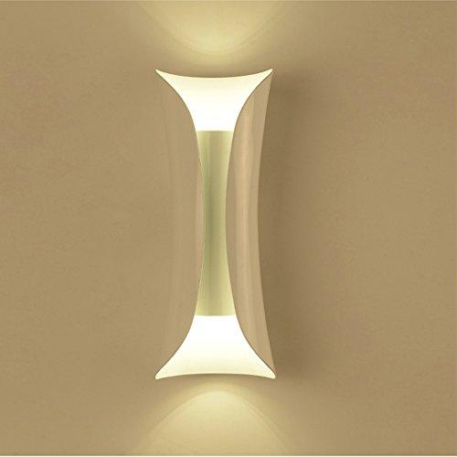 Good thing Applique Nordic Modern Simple Iron TV Lampe Murale Aisle Escaliers Chambre à coucher Lampe de chevet Européenne Coupon Applique murale (Couleur : Blanc)