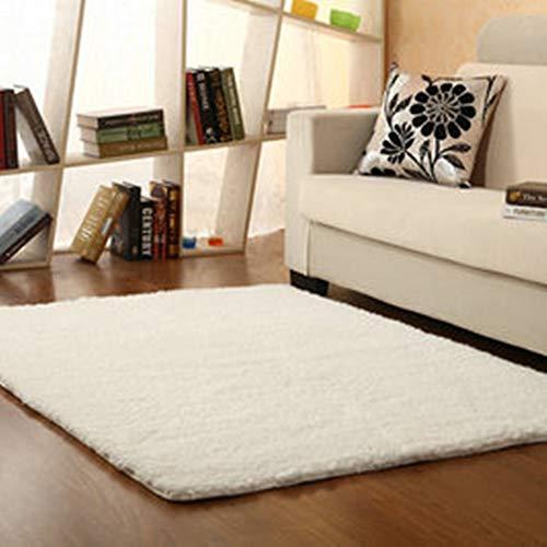 Morbuy Tapete Rectángulo Felpudos Alfombra Hogar Antideslizante Alfombras Piso Moqueta Mats Pad para Habitación (40 * 60cm, Blanco)