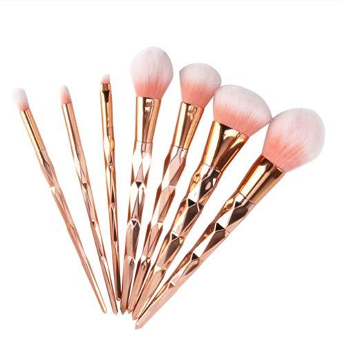 7pcs diamant pinceaux de maquillage mis poudre base fard à paupières fard à paupières mélange de cosmétiques beauté maquillage kits de brosse à outils,01