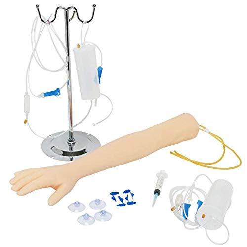 MaquiGra Juego de Moldeo de Inyección de Venopunción Entrenamiento de inyección médica Brazo de Entrenamiento de flebotomía y venipuntura para enfermería y aprendices