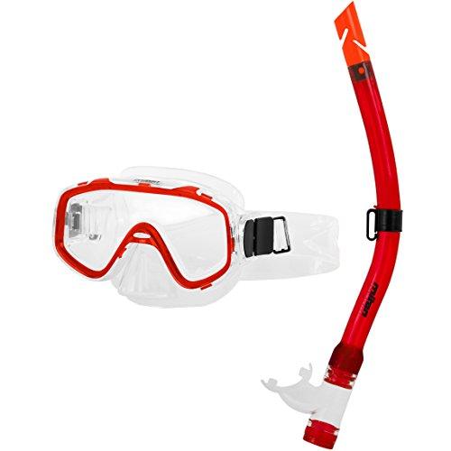 Miton kinderen duikbril Junior snorkelset Neptuna rood