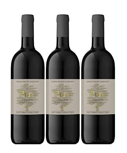 Puro Riserva - Chianti DOCG - 2015 - Biologico - Senza Solfiti - Fattoria Lavacchio - Toscana - 3 bottiglie da 750ml