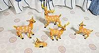 YINING 鉢植え ガーデンオーナメント 庭/オブジェ/置物 飾り物 絵本 かわいい 動物 森 おしゃれ インテリア雑貨 (鹿トナカイ)