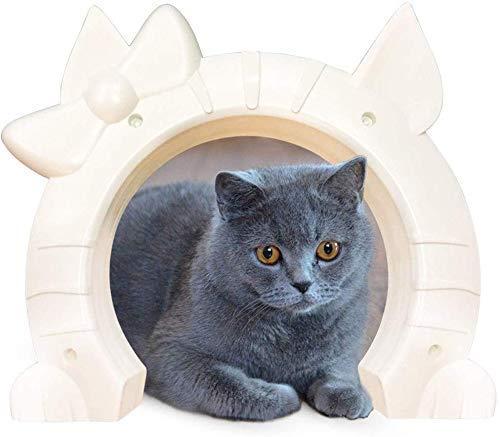 8bayfa Haustier-Tür-Katze-Tür-Innen Großes Fressnapf-Tor durch Wand Loch for 2-Wege Haustier Pässe