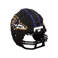 FOCO Baltimore Ravens NFL 3D BRXLZ Puzzle Replica Helmet Set