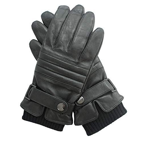 Hugo Boss Herren Lederhandschuhe mit Futter, Hetlon-TT, Black, size 8,5