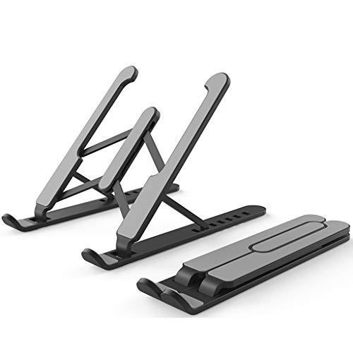ZJY Laptop Bracket Heat Dissipation Desktop Heightening Base Lifting Portable Cervical Suspension Shelf Laptop Stand (Color : Black)