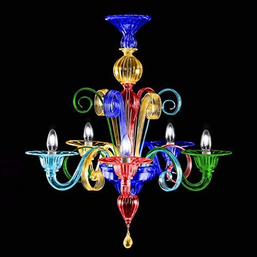 Velma Arlecchino lampadario in Vetro di Murano (6 luci)