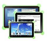 Funda tablet silicona universal compatible con cualquier tablet de cualquier tamaño como 7', 8', 9', 9.7', 10.1 (Verde)