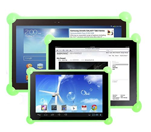 Cover tablet custodia tablet cover tablet silicone custodia tablet silicone custodia in slicone tablet cover in silicone tablet compatibile con tablets pc di qualsiasi dimensione e marca Verde