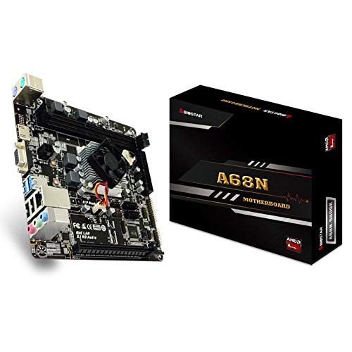 LALAHO La CPU de Cuatro núcleos integrada ITX de la Placa Base A68N-5600E admite HDMI DDR3