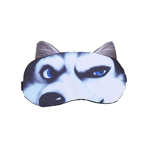 WWCY - Cute 3D Animal Sleep Mask Cat Dog Eye Mask Eyeshade for Kids Girls Women Adults (Husky)