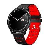 Gesundheits Tracker Uhr,Suney Bluetooth Living Wasserdichte 1,3 Zoll Farbbildschirm Sport Frauen Männer Laufende Uhr mit Herzfrequenz/Blutdruck/Schlaf Monitor Armband Kompatibel für iOS/Android - Rot