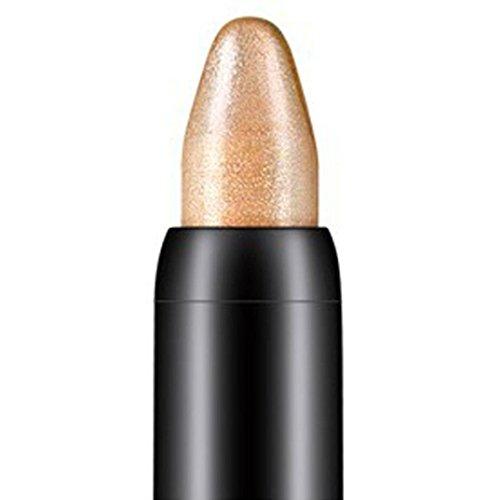 Tonsee Femmes Beauté Surligneur Crayon À Paupières Cosmétique Glitter Ombre À Paupières Eyeliner Stylo Outil De Maquillage Portable, 116cm (Marron clair#14)