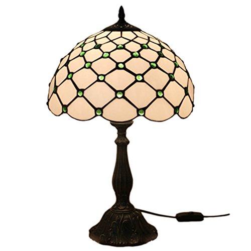 Fabakira Vintage mediterrane Tiffany Stil Bernstein Tischlampe Luxus Nachttischlampe