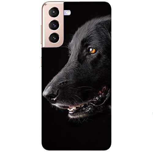 Generisch Funda blanda para teléfono móvil, diseño de perro, color negro, para Apple Huawei Honor Nokia One Plus Oppo ZTE Xiaomi Google, tamaño: Huawei P10 Lite
