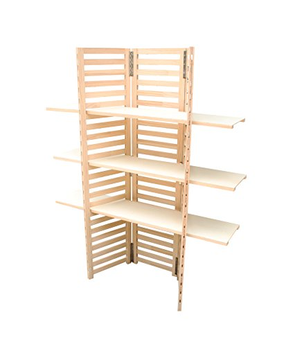 Diwhy Industrial Pipe Clothing Rack 4 Layers Pine Wood Shelving Shoes Rack With Wheels Cloth Hanger Household Shoe Rack Pipe Shelf Garment Racks