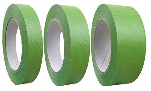 varivendo 3er Set Profi+ Feinkreppband grün 19 mm, 25 mm und 38 mm x 50 m