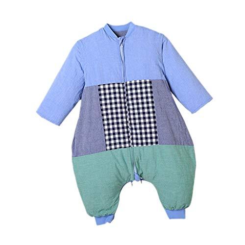 THBEIBEI slaapzak baby slaapzak afneembare voering en mouw inbakeren dikke pasgeboren baby jongen meisje gift katoen deken quilt of wieg wrap voor de winter 10-15°