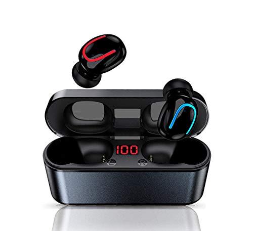 MISSJJ Cuffie Bluetooth 5.0,50 H Autonomia,CVC 8.0 Riduzione Rumore,Auricolari Bluetooth Stereo 3D,Cuffie Senza Fili Impermeabile con Microfoni per iPhone Samsung Huawei Xiaomi LG Sony