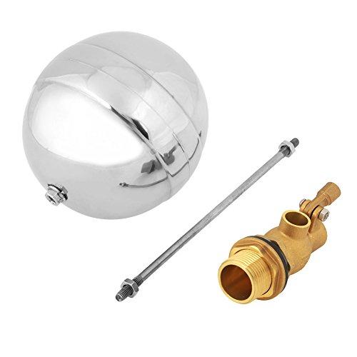 Válvula de bola de flotador de acero inoxidable, bola flotante ajustable con sensor de agua de rosca macho DN20 de 3/4 pulgadas