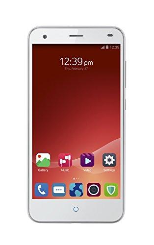 ZTE Hoja S6 4G 5-Inch RU Versión Dual sin SIM Teléfono inteligente - Blanco (294 PPI HD Pantalla, 16GB ROM, 2GB RAM, Octa-Core Snapdragon 615, MicroSD Ranura de, 13 MP Parte trasera Cámara, 5 MP Frente Cámara, Android 5.0)