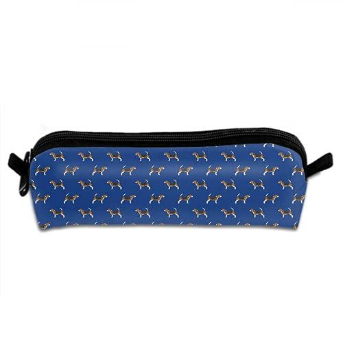 Beagle - Estuche para lápices, diseño de perros y perros, para oficina, colegio, bolsa alta para niños y niñas, suministros escolares