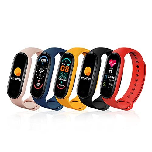 M6 Smart Bracelet Watch, Heart Rate/Blood Pressure Monitoring IP67 Waterproof Bracelet, Suitable for Teenagers, Female Fitness Activity Tracker