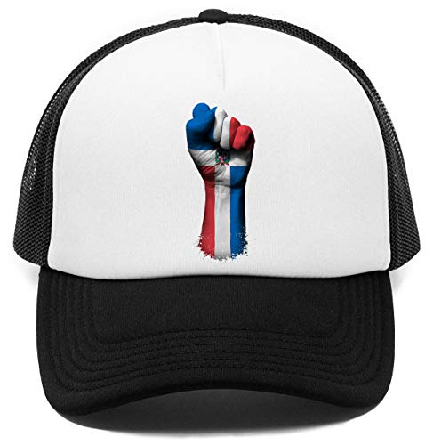 Vendax Flagge von dominikanisch Republik auf EIN Angehoben geballt Faust - dominikanisch Republik Kappe Baseball Rapper Cap