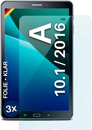 moex Protector de pantalla transparente compatible con Samsung Tab A 10.1 (2016) – Protector de pantalla transparente, protector de pantalla HD, fino y resistente a los arañazos, 3 unidades