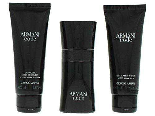 Giorgio Armani Code Pour Homme giftset, Eau de Toilettespray, all over body shampoo, as balm, 1er Pack (1 x 200 ml)