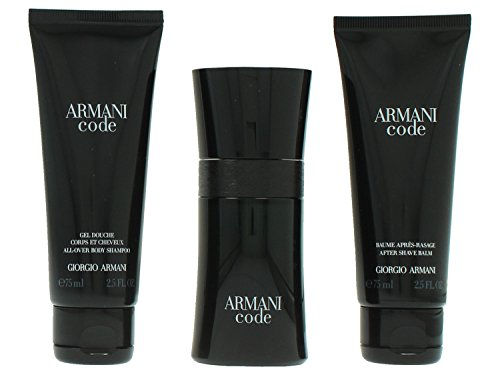 Giorgio Armani Code Pour Homme giftset, Eau de Toilettespray, all over body shampoo, as balm, 1er Pack (1 x 200 ml)