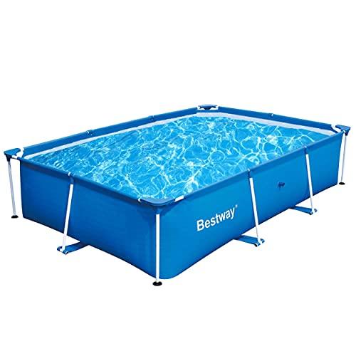 Bestway 56498 Deluxe Splash 9.8' x 6.7' x 26' Kids Rectangular Above Ground Swimming Pool (Pool...