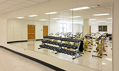 Wall Mounted Activity Mirrors for Home Gym and Commercial Use (1, 48'x32')